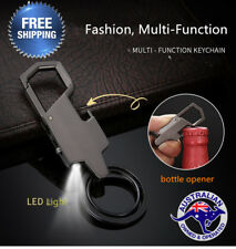 Style Metal LED Car Keyring Keychain Key Chain Ring Christmas Gift Fashion Men's