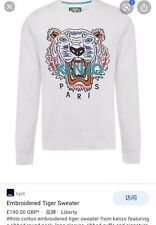 Kenzo Emboridered Tiger White Sweater Women Size M 100% Authentic Sold Out !