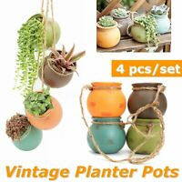 Ceramics Planter Pot Basket Hanging Flower Plant Vase Home Garden Balcony   /