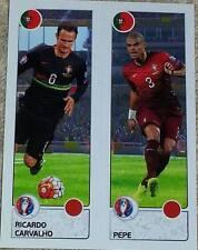 599 Ricardo Carvalho Pepe Portugal Panini Euro 2016 Etiqueta engomada de Francia 599a 599b