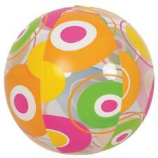 "20"" Inflatable Bright Circle Print Beach Ball Swimming Pool Toy w"