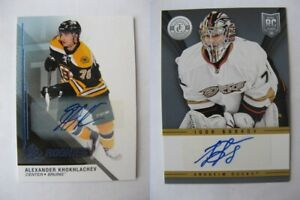 2014-15 SP Game Used #132 Khokhlachev Alexander RC autograph  bruins