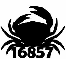 House Number Plaque, Metal Sign, Condo, Address Sign, Crab1