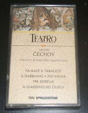MUSICASSETTA TEATRO CECHOV -  FA MALE IL TABACCO. ZIO VANJA. TRE SORELLE. ETC.