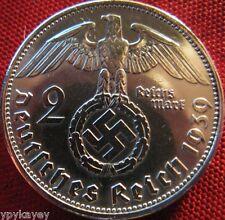 Nazi German 2 Reichsmark SILVER 1939 Genuine Coin Third Reich EAGLE SWASTIKA