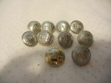 VANCOUVER FIRE DEPARTMENT METAL UNIFORM BUTTONS X 9 CANADIAN PACIFIC BUTTON X 1