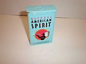 Natural American Spirit EMPTY Cigarette Collectors Tin; BLUE SLIDE TOP, NOS