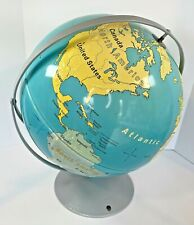 """Nystrom First Globe 16"""" Raised Texture Rotating Globe 20In Tall Has A Few Marks"""