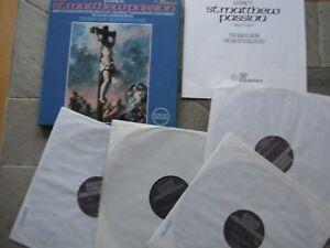 J.S. BACH ST. MATTHEW PASSION RARE BOXED 4 LP SET CHAMBER ORCH  DAVID WILLCOCKS