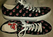 CLEVELAND INDIANS CHIEF WAHOO Shoes Womens 10 Mens 8.5 Canvas Boat Row One Ball