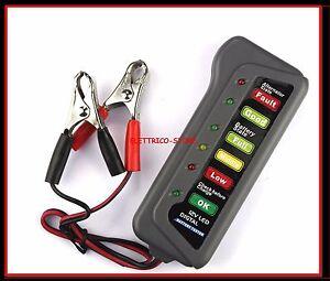 12V 6 LED TESTER DIGITALE PER VERIFICA CONTROLLO BATTERIA ALTERNATORE AUTO MOTO
