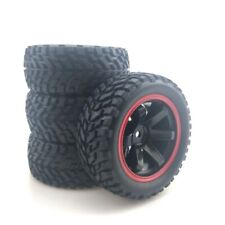 For 110 Rally Car 75mm Rubber Tires And Wheel Rims For 110 Scale Hsp 94123 Hpi