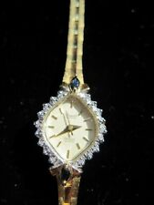 Deauville Amitron Quartz Women's  Diamond & Gold Tone Wrist Watch *NOT WORKING*