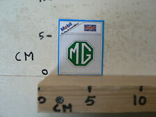 STICKER,DECAL MG  LOGO MOBIL OVER TER WERELD OIL CAR AUTO A