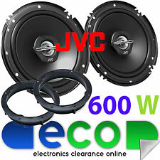 VW POLO 6 C 2014 JVC 16 cm 600 W 2 vie Porta Posteriore Altoparlanti Auto & STAFFE KIT