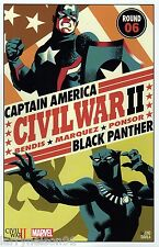 CIVIL WAR II 6 LITHOGRAPH POSTER CHO LITHO BLACK PANTHER VS CAPTAIN AMERICA CA