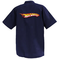 Hot Wheels Logo II  - Mechanics Graphic Work Shirt  Short Sleeve