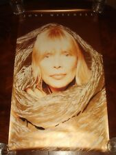 Rare JONI MITCHELL 1991 GEFFEN RECORDS PROMO POSTER - GOLD INK
