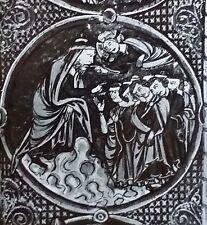 God Speaks to Balaam, 13th Century French Illumination,Magic Lantern Glass Slide