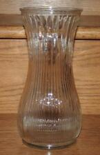 "NM VINTAGE 1960's HOOSIER INDIANA GLASS #4087-A  CLEAR RIBBED FLOWER VASE 9.75""h"