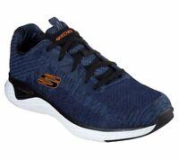 Skechers Navy shoes Men Memory Foam Walk Train Sport Comfort Casual Woven 52758