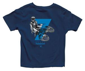 Thor MX Motocross Youth Plessinger 7 T-Shirt (Navy Blue) L (Large)