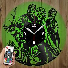 LED Vinyl Clock Frozen LED Wall Art Decor Clock Original Gift 3913