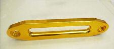 "10"" 8000-15000LB Universal Aluminum Hawse Fairlead Synthetic Winch Rope SUV GOLD"