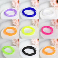 5pcs Hair Rope Elastic Silicone Bracelets Bangle Hairband Hand Ring