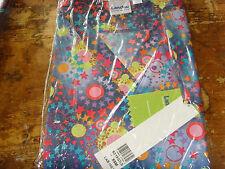 Stars and Planets XS womens Landau scrub top space lavender brights uniform NEW