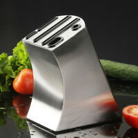 Stainless Steel Knife Block Holder Kitchen Knife Storage Rack Inserted Organizer