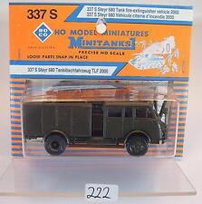 Roco Minitanks 1/87 337 S Steyr 680 LKW TLF 2000 Feuerwehr Militär OVP #222