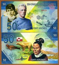 Greenland, 50 Kroner, 2016, Private Issue Kamberra, UNC >  Rasmussen, Nansen