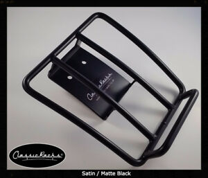 Vespa GTS GTV GT Sprint Rear Rack  luggage carrier SATIN BLACK - Classic Racks