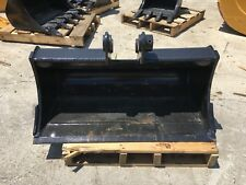 """New 36"""" Takeuchi TB125 Heavy Duty Ditch Cleaning Bucket w/ Coupler Pins"""