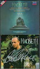 Leo Nucci SIGNED Verdi Macbeth Shirley Verrett Samuel Ramey Riccardo Chailly 2cd
