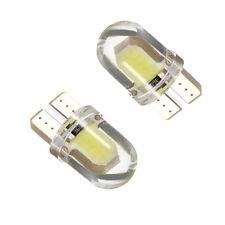 2x LED Bulbs T10 194 168 W5W COB CANBUS ERROR FREE White License Reading Lights