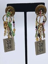 Vintage Lunch At The Ritz 14K Post Earrings ~Hand Signed~