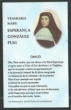 Estampa antigua de la Madre Esperanza andachtsbild santino holy card santini