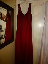 Alex Evenings Formal Dress Gown Deep Red Size 14 Polyester covered in Chiffon