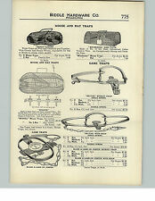 1910 PAPER AD Mouse Rat Trap Winchester French Pattern Hold Em Hector Leg Hold