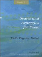 Scales and Arpeggios for Piano Grade 2 Sheet Music Book J Koh's Fingering Method