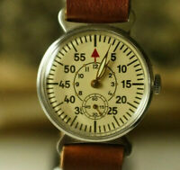 Vintage USSR POBEDA MILITARY RUSSIAN Mechanical Soviet Men's Wristwatch