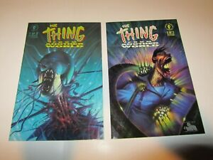 The THING from Another World Comic Set 1-2 Lot Dark Horse John Carpenter's Movie