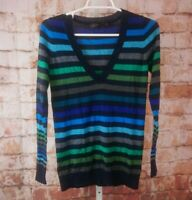 The Limited V Neck Striped Sweater Size S