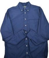 Gitman Bros. Vintage NWT Oxxford Button Down Shirt Size L In Dark Navy