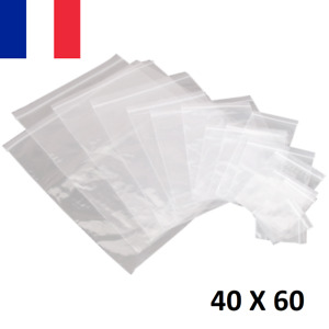 Lot 10X Sachet Zip Plastique 40x60mm 4x6cm Transparent Pochon Pochette 50u