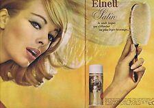 PUBLICITE ADVERTISING 015 1965 L'OREAL Elnett satin laque (2 pages)