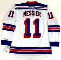 "MARK MESSIER NEW YORK RANGERS REEBOK PREMIER WHITE JERSEY WITH ""C"" NEW"
