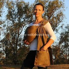 Walkabout Baby Sling Ring Carrier Pouch Chestnut Brown 100% Cotton 5 in 1 RRP$59